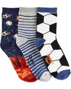 Emballage de 3 paires de chaussettes de sport mi-mollet qui brillent dans le noir, , hi-res
