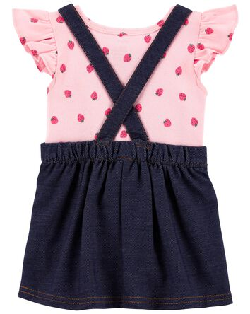 2-Piece Strawberry Bodysuit & Skirt...