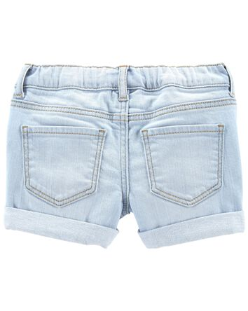 Rip-&-Repair Stretch Denim Shorts