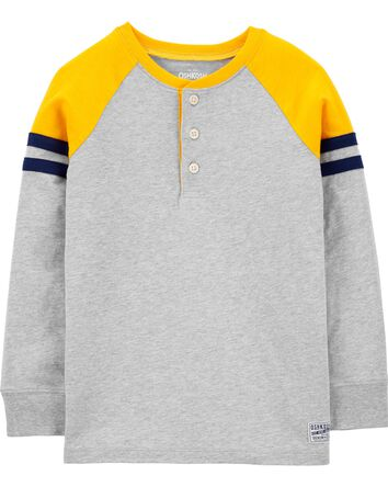 Colourblock Jersey Henley