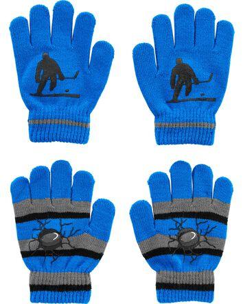 Emballage de 2 paires de gants hock...