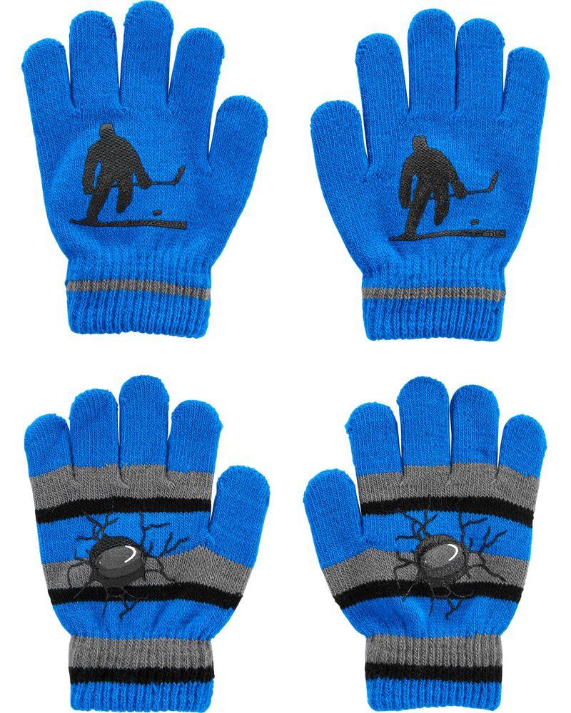 Emballage de 2 paires de gants hockey à paume antidérapante, , hi-res