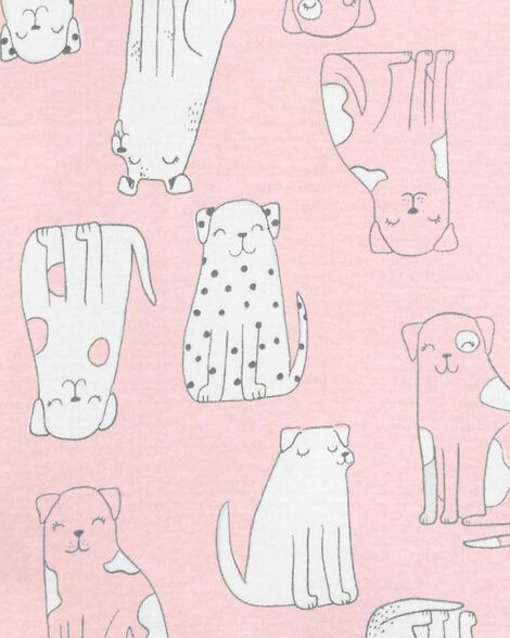 Pyjama 4 pièces en coton ajusté à chien