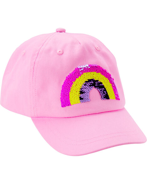 Flip Sequin Rainbow Baseball Hat