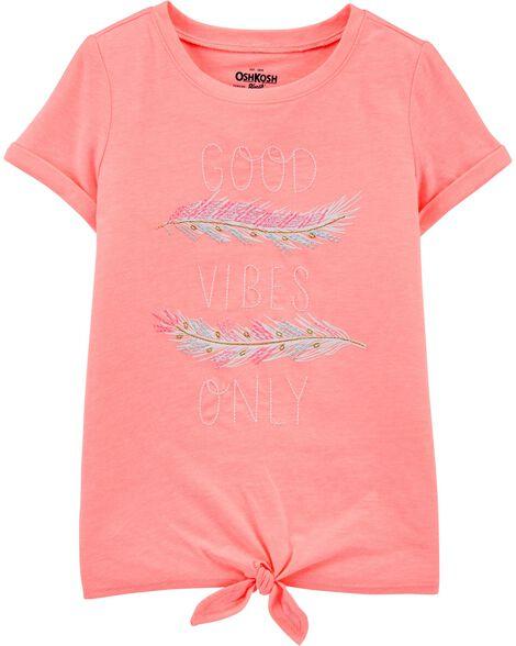 T-shirt à nœud Good Vibes