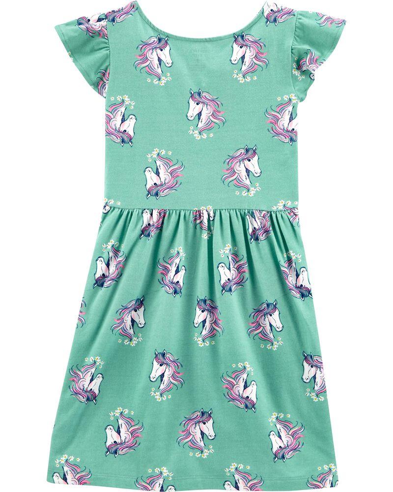 Unicorn Faux Wrap Dress, , hi-res