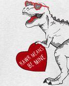 T-shirt en jersey dinosaure de la Saint-Valentin, , hi-res