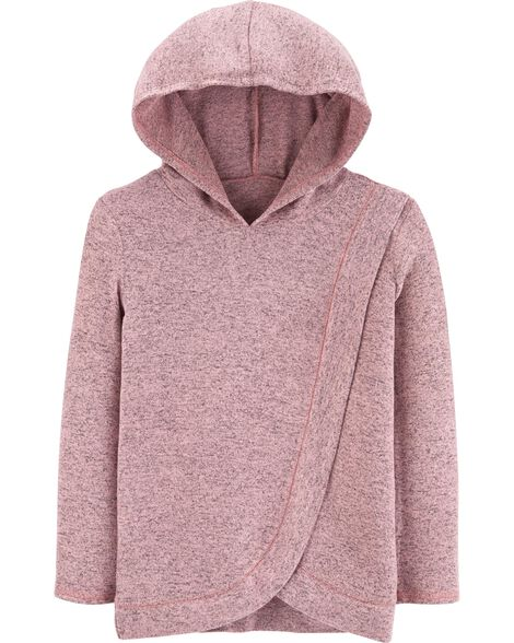 Cross-Front Pullover Hoodie