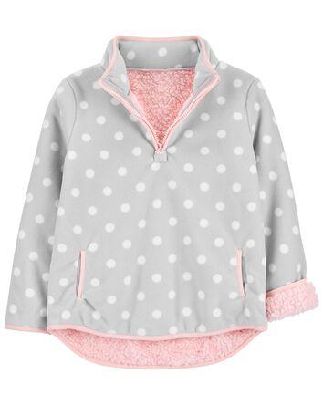 Polka Dot Fleece Pullover