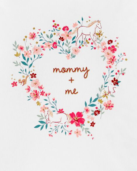 Mommy + Me Floral Jersey Tee