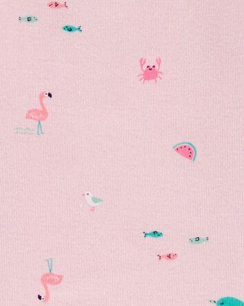 3-Piece Flamingo Little Short Set