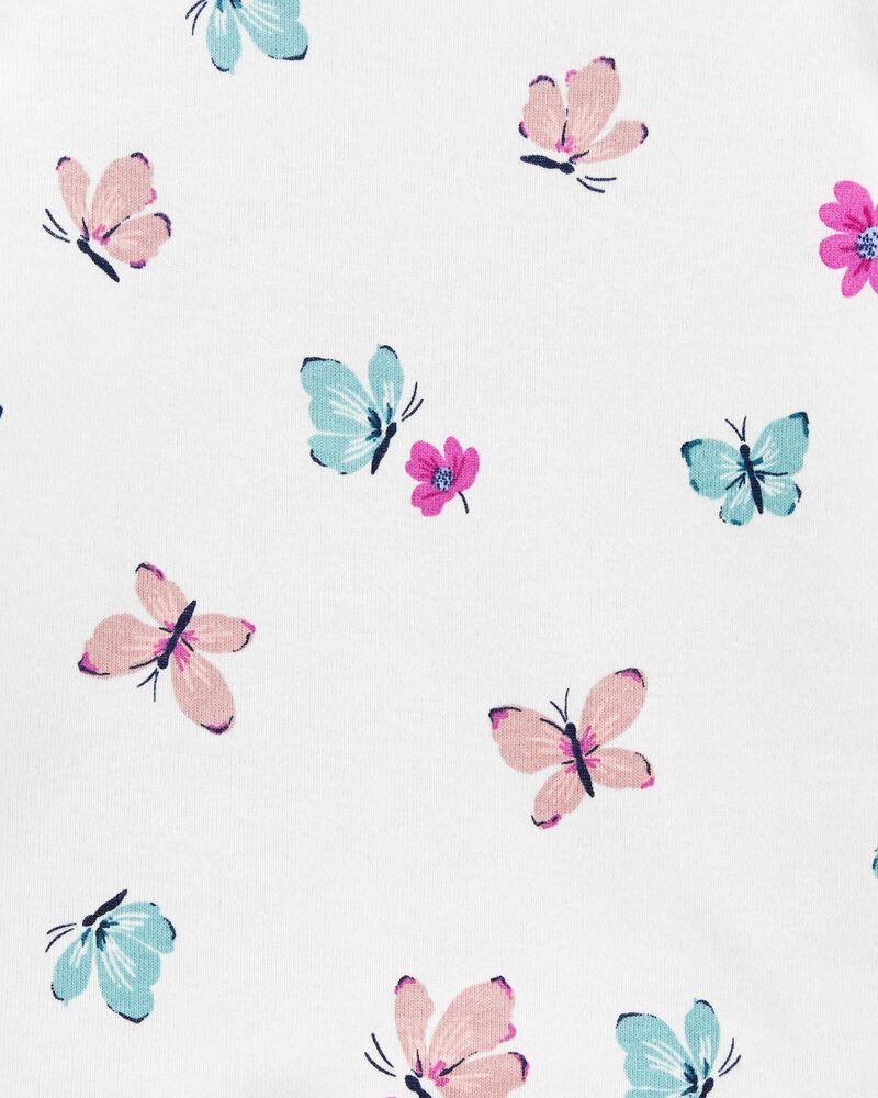 2-Piece Floral Tee & Poplin Overall Set, , hi-res