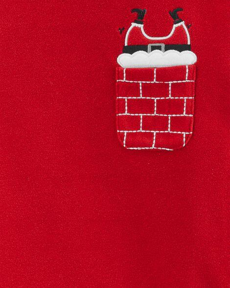 2-Piece Christmas Santa Fleece PJs