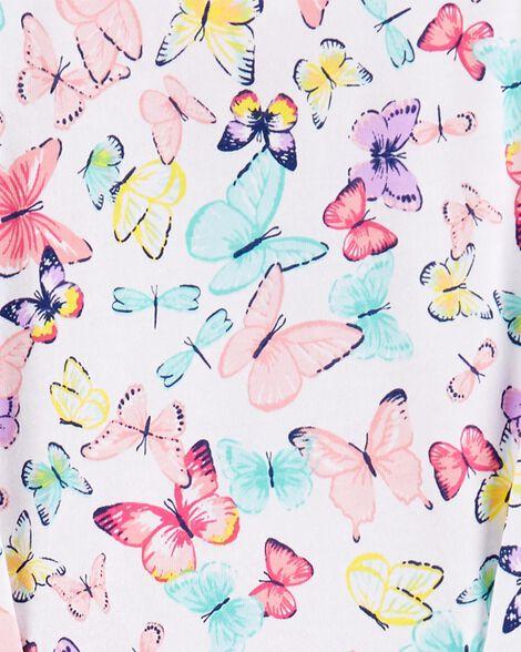 2-Piece Butterfly Jersey Top & Legging Set