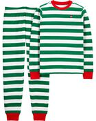 2-Piece Adult Holiday Thermal PJs, , hi-res