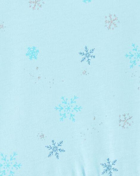 Ensemble 2 pièces robe en jersey à flocons de neige et rayures