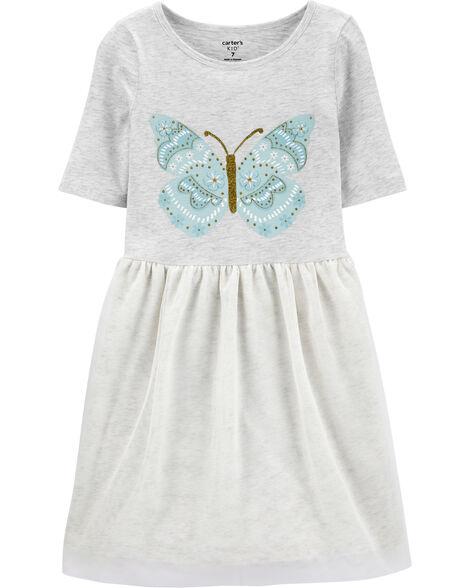 Butterfly Tutu Jersey Dress