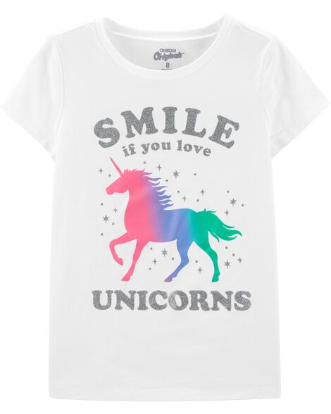 T-shirt à imprimé original licorne