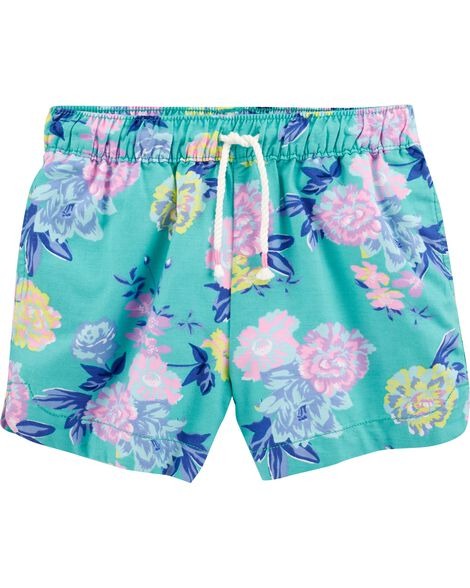 Tropical Floral Sun Shorts