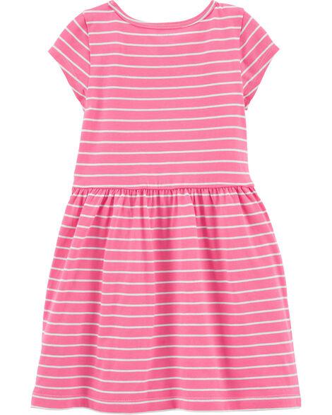 Striped Unicorn Jersey Dress