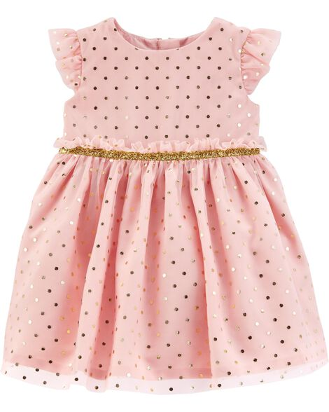Polka Dot Tulle Holiday Dress