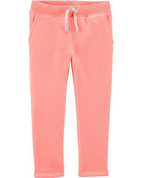Pantalon en molleton fluo
