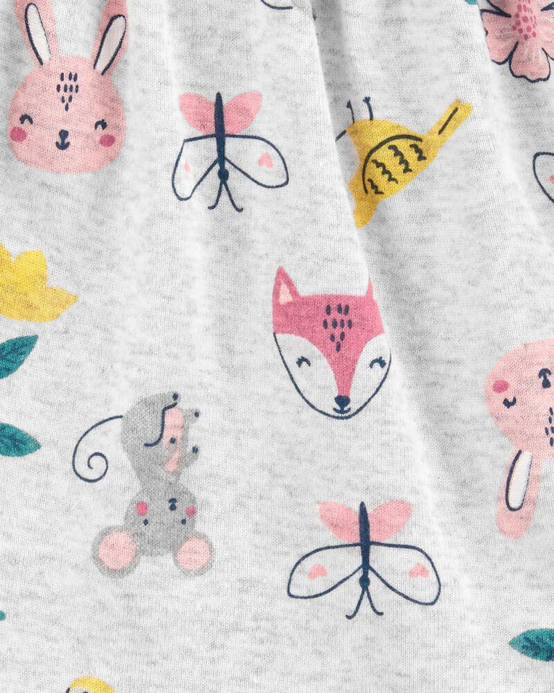 Cache-couche en coton avec papillon fleuri, , hi-res