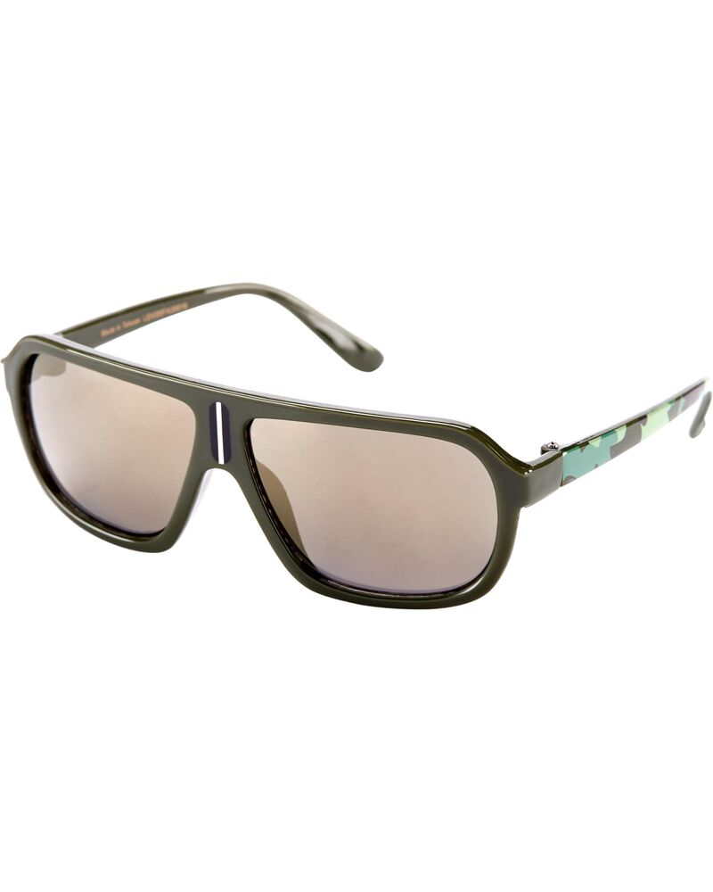 Camo Aviator Sunglasses, , hi-res