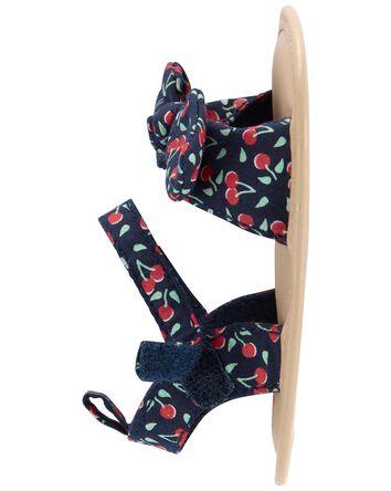 Sandales pour bébé à cerises