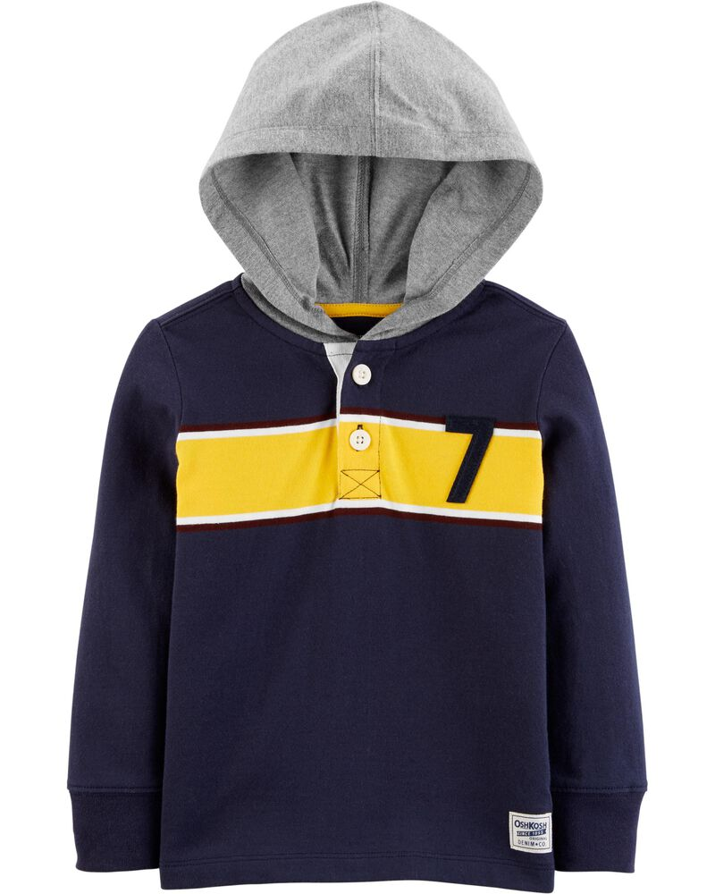 Hooded Rugby Tee, , hi-res