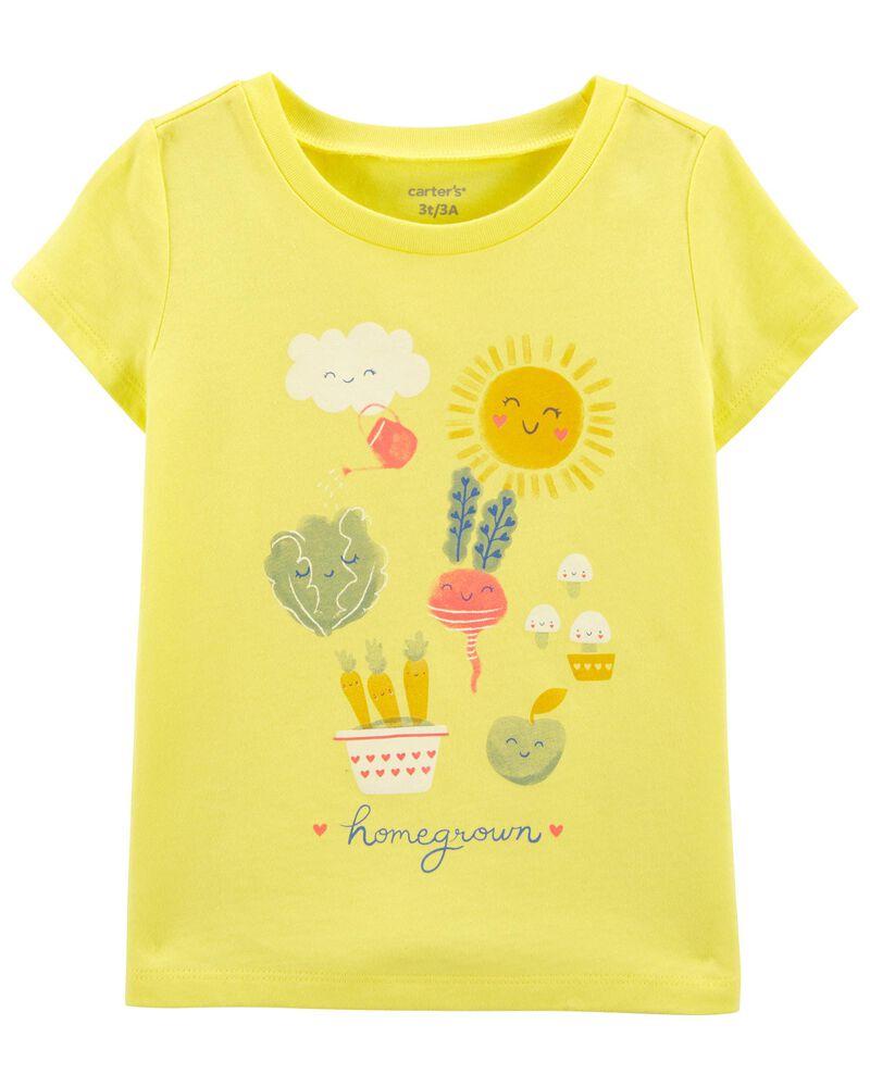 T-shirt en jersey jardin, , hi-res
