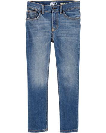 Jeans fuseau coupe régulière - indi...
