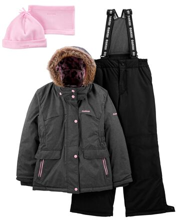 2-Piece Snowsuit With Bonus Hat & N...