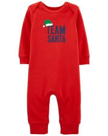 Santa Snap-Up Footless Sleep & Play