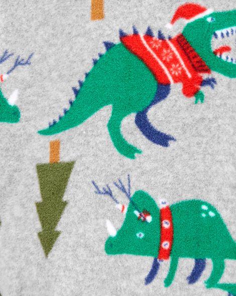 1-Piece Holiday Fleece Footie PJs
