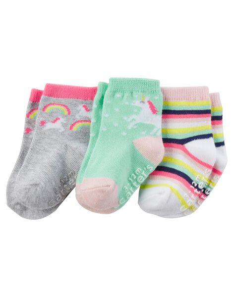 3 paires de chaussettes tube