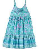 Ruffle Floral Dress, , hi-res