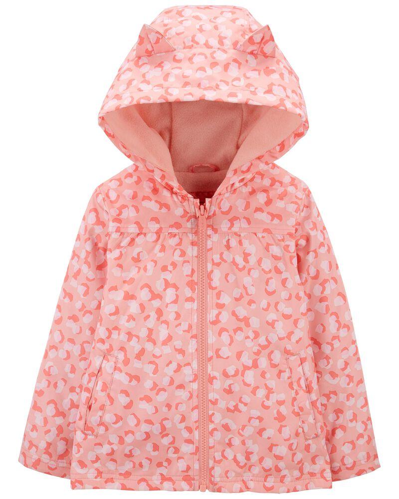 Leopard Fleece-Lined Jacket, , hi-res