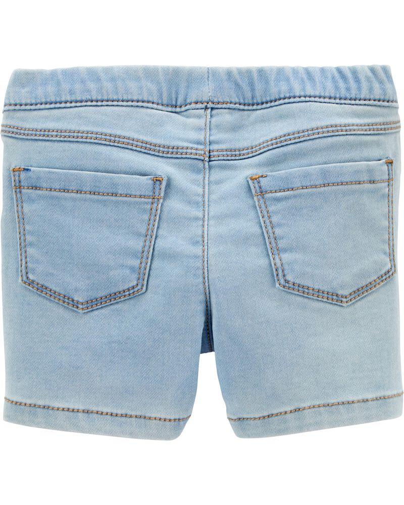 Denim Frayed Shorts, , hi-res
