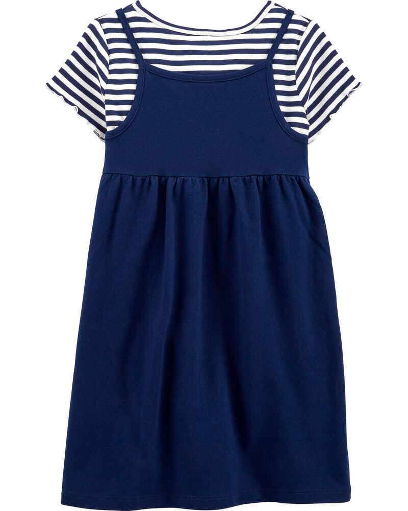 2-Piece Striped Tee & Dress Set, , hi-res