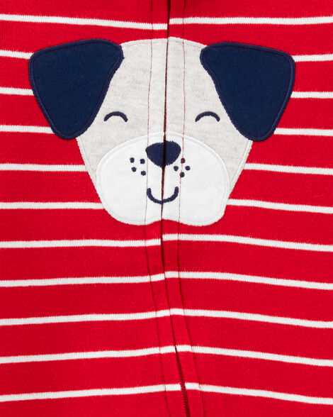 Dog 2-Way Zip Cotton Sleep & Play
