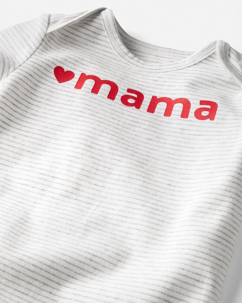 Organic Cotton Love Mama Bodysuit, , hi-res