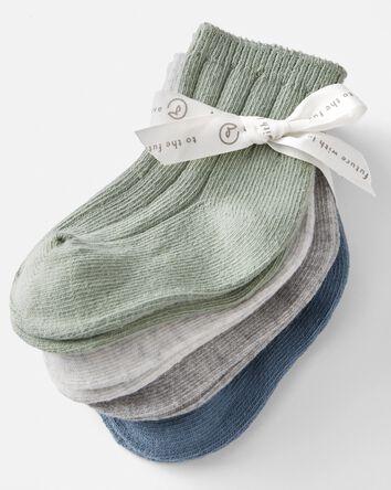 4-Pack Organic Cotton Rib Socks