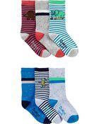 6-Pack Too Cool Crew Socks, , hi-res