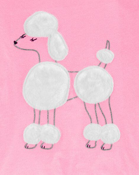 T-shirt en jersey caniche scintillant