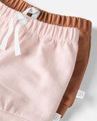 2-Pack Organic Soft Knit Shorts, , hi-res