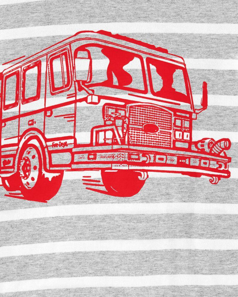 T-shirt en jersey à camion d'incendie, , hi-res