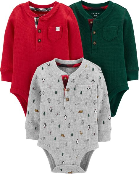 3-Pack Holiday Original Bodysuits