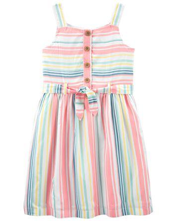 Striped Tie-Front Dress