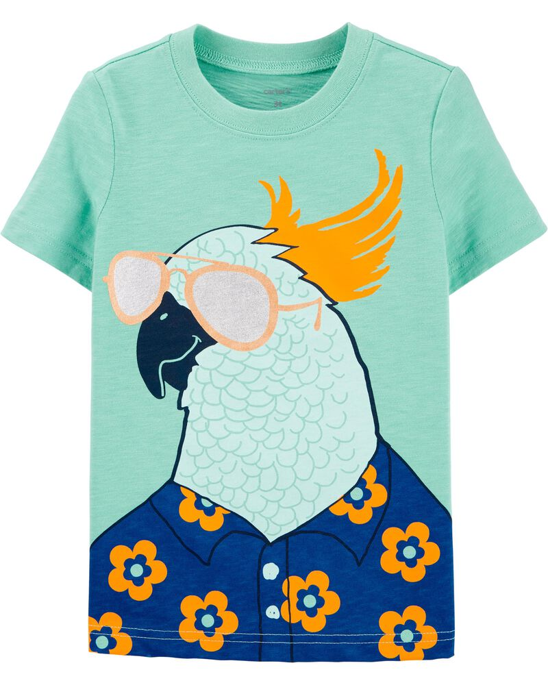 T-shirt en jersey avec perroquet, , hi-res